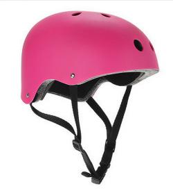 Pink skateboard helmet